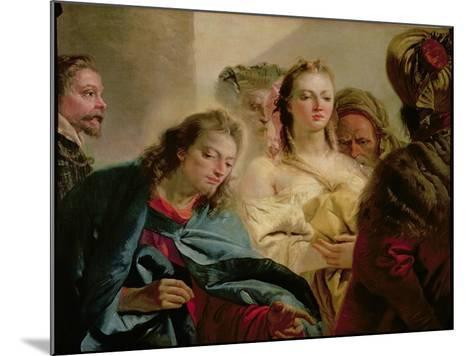 Christ and the Adulteress, 1751-Giandomenico Tiepolo-Mounted Giclee Print