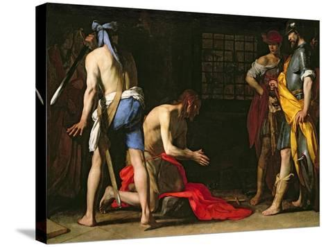 The Beheading of John the Baptist, 1634-Massimo Stanzione-Stretched Canvas Print