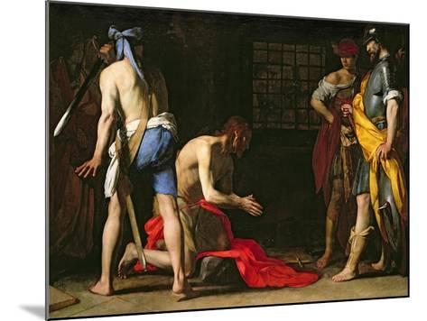 The Beheading of John the Baptist, 1634-Massimo Stanzione-Mounted Giclee Print