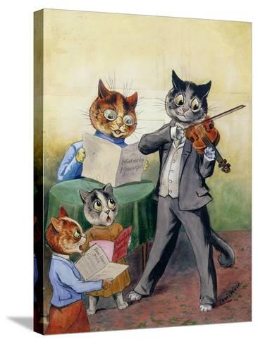 The Mewsical Family-Louis Wain-Stretched Canvas Print