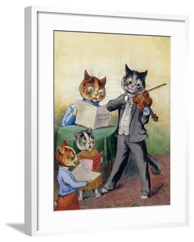 The Mewsical Family-Louis Wain-Framed Art Print