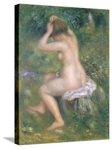 A Bather, c.1885-90-Pierre-Auguste Renoir-Stretched Canvas Print