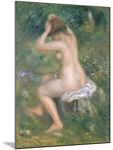 A Bather, c.1885-90-Pierre-Auguste Renoir-Mounted Giclee Print
