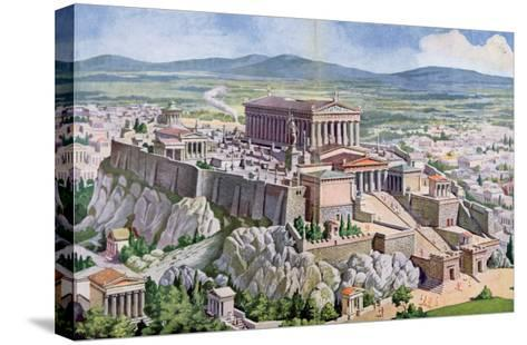 The Acropolis in Athens in Ancient Greece, 1914-G. Rehlender-Stretched Canvas Print