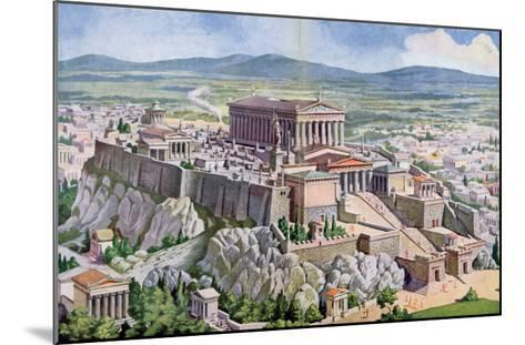 The Acropolis in Athens in Ancient Greece, 1914-G. Rehlender-Mounted Giclee Print