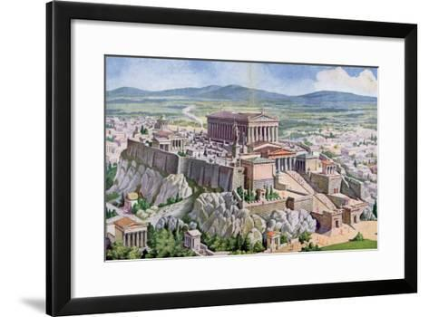 The Acropolis in Athens in Ancient Greece, 1914 Giclee Print by G ...