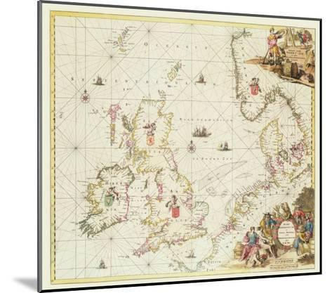Map of the North Sea, c.1675-Frederick de Wit-Mounted Giclee Print