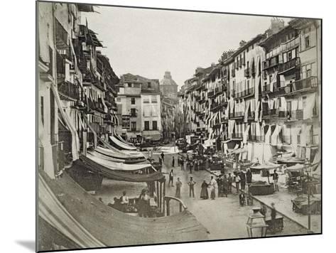 Barcelona Street Scene, c.1880s--Mounted Giclee Print