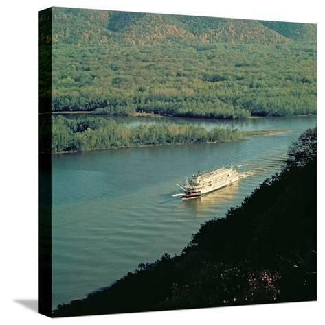 The 'Delta Queen', Mississippi River--Stretched Canvas Print