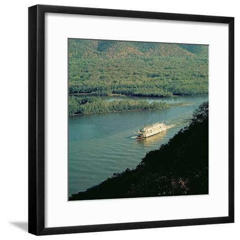 The 'Delta Queen', Mississippi River--Framed Art Print