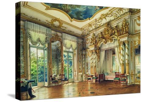 Bedroom of Tsar Alexander I in the Alexander Palace, Tsarskoye Selo, 1855-Luigi Premazzi-Stretched Canvas Print