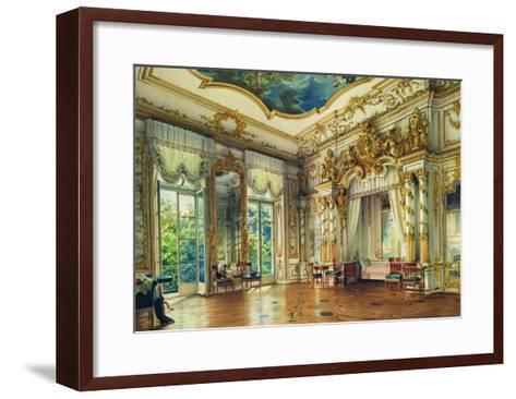 Bedroom of Tsar Alexander I in the Alexander Palace, Tsarskoye Selo, 1855-Luigi Premazzi-Framed Art Print