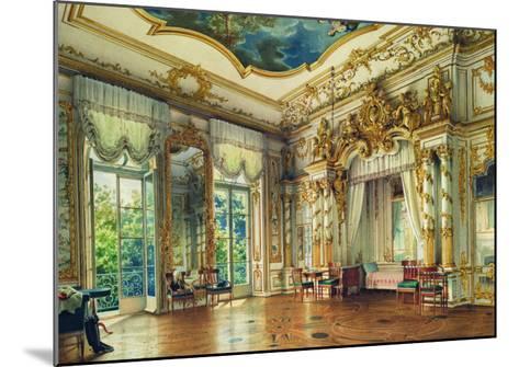 Bedroom of Tsar Alexander I in the Alexander Palace, Tsarskoye Selo, 1855-Luigi Premazzi-Mounted Giclee Print