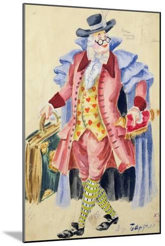 Costume Design for Mozart's 'The Marriage of Figaro', 1936-Jakov Zinovyevich Stoffer-Mounted Giclee Print