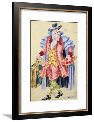 Costume Design for Mozart's 'The Marriage of Figaro', 1936-Jakov Zinovyevich Stoffer-Framed Art Print