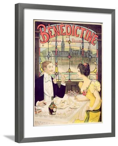 Advertisement for Benedictine, printed by Imp. Andre Silva, Paris, 1898-Lucien Lopes Silva-Framed Art Print