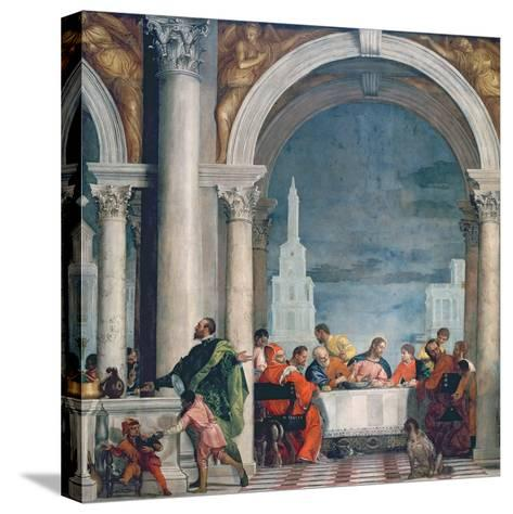 Supper in the House of Levi, 1573-Paolo Veronese-Stretched Canvas Print