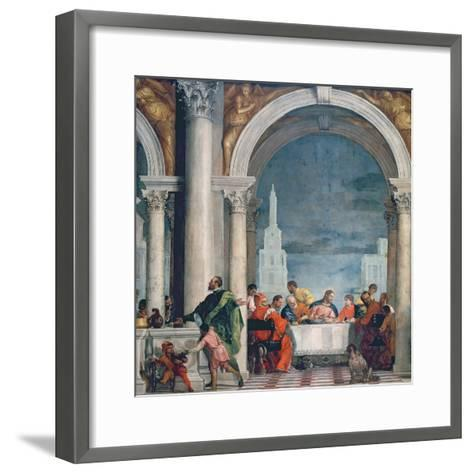Supper in the House of Levi, 1573-Paolo Veronese-Framed Art Print