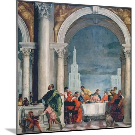 Supper in the House of Levi, 1573-Paolo Veronese-Mounted Giclee Print