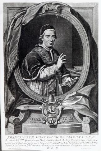 Pope Clement Xiv, Engraved by Domencio Cunego-Giovanni Domenico Porta-Stretched Canvas Print
