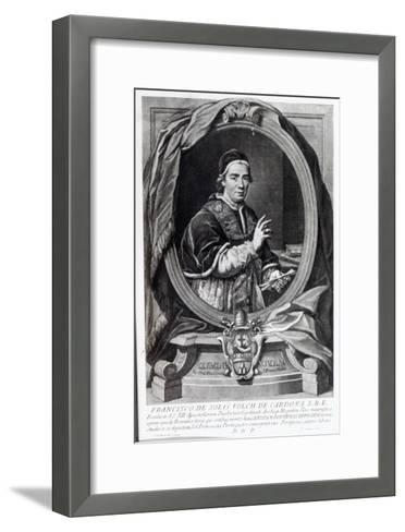 Pope Clement Xiv, Engraved by Domencio Cunego-Giovanni Domenico Porta-Framed Art Print