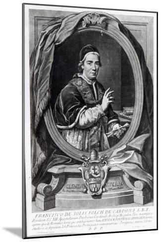 Pope Clement Xiv, Engraved by Domencio Cunego-Giovanni Domenico Porta-Mounted Giclee Print