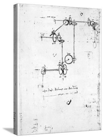 Machinery Designs-Leonardo da Vinci-Stretched Canvas Print