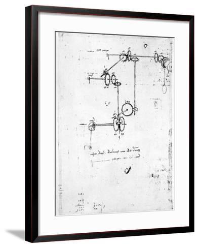 Machinery Designs-Leonardo da Vinci-Framed Art Print