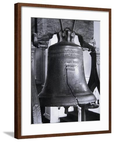 The Liberty Bell, Cast in 1752--Framed Art Print