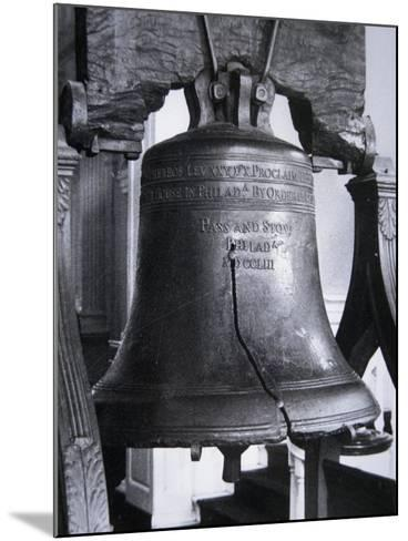 The Liberty Bell, Cast in 1752--Mounted Giclee Print