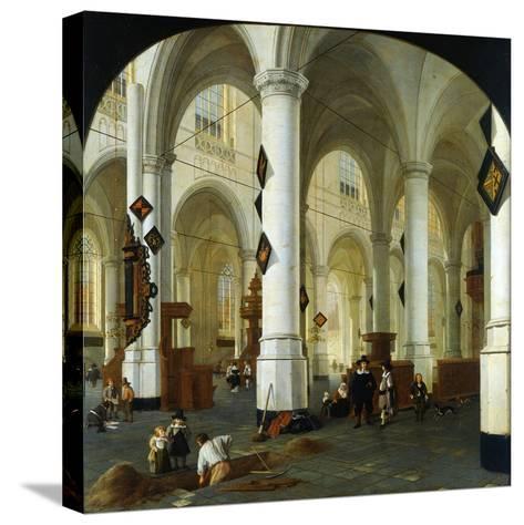 Interior of the Oude Kerk in Delft-Hendrik Cornelisz van Vliet-Stretched Canvas Print