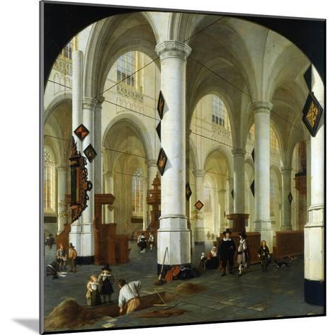 Interior of the Oude Kerk in Delft-Hendrik Cornelisz van Vliet-Mounted Giclee Print