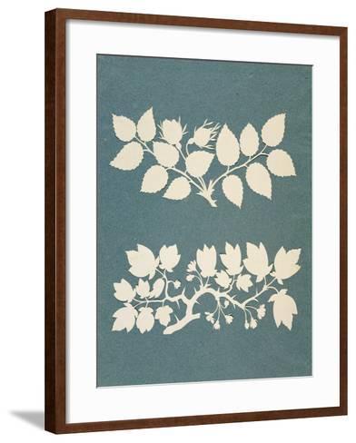 A Rose Branch and Jasmin Branch-Philipp Otto Runge-Framed Art Print