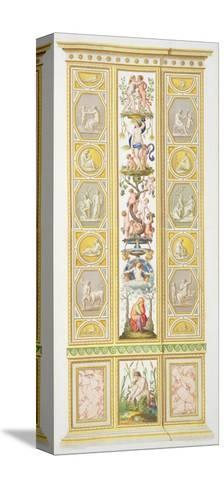 Panel from the Raphael Loggia at Vatican, from 'Delle Loggie di Rafaele nel Vaticano'-Ludovicus Tesio Taurinensis-Stretched Canvas Print