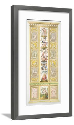 Panel from the Raphael Loggia at Vatican, from 'Delle Loggie di Rafaele nel Vaticano'-Ludovicus Tesio Taurinensis-Framed Art Print