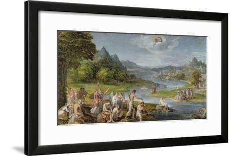 The Baptism of Christ-Lambert Sustris-Framed Art Print