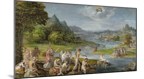 The Baptism of Christ-Lambert Sustris-Mounted Giclee Print