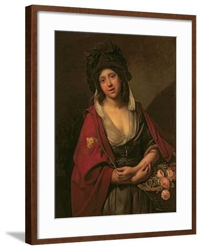 The Flower Girl-Johann Zoffany-Framed Art Print