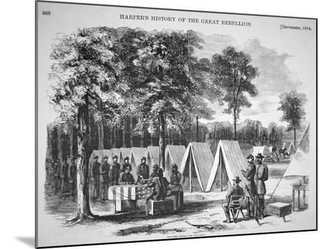 Pennsylvania Soldiers Voting in September, from 'Harper's Weekly', 29th October 1864-Alfred R^ Waud-Mounted Giclee Print