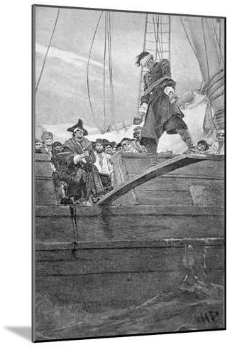 Walking the Plank, engraved by Anderson-Howard Pyle-Mounted Giclee Print