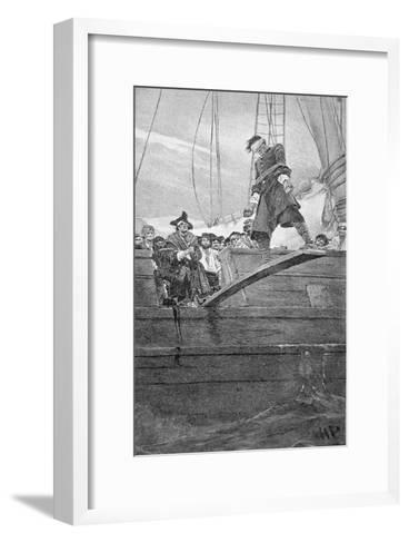 Walking the Plank, engraved by Anderson-Howard Pyle-Framed Art Print