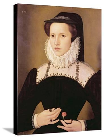 Portrait of Anne Waltham, 1572-Francois Quesnel-Stretched Canvas Print