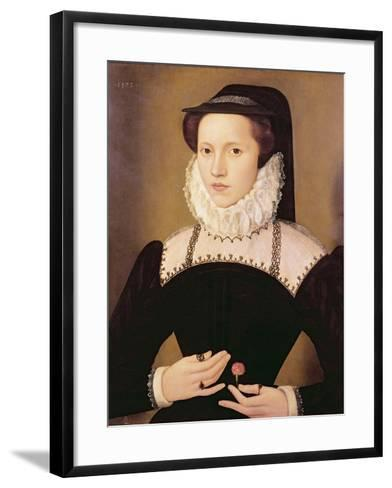 Portrait of Anne Waltham, 1572-Francois Quesnel-Framed Art Print