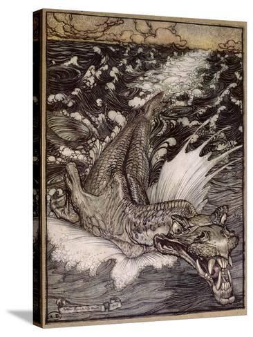 The Leviathan, 1908-Arthur Rackham-Stretched Canvas Print