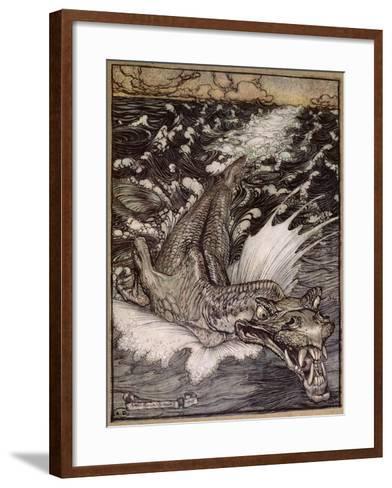 The Leviathan, 1908-Arthur Rackham-Framed Art Print