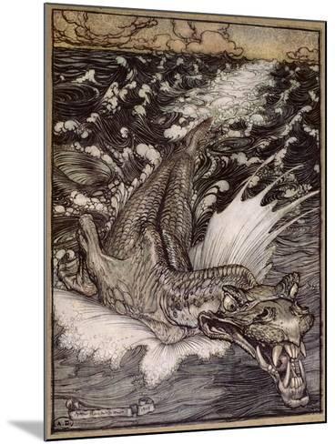 The Leviathan, 1908-Arthur Rackham-Mounted Giclee Print
