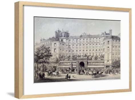 Boulevard Montmartre, Passage Jouffroy and Grand Hotel de la Terrasse Jouffroy, 1865-Charles Riviere-Framed Art Print