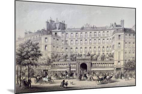 Boulevard Montmartre, Passage Jouffroy and Grand Hotel de la Terrasse Jouffroy, 1865-Charles Riviere-Mounted Giclee Print