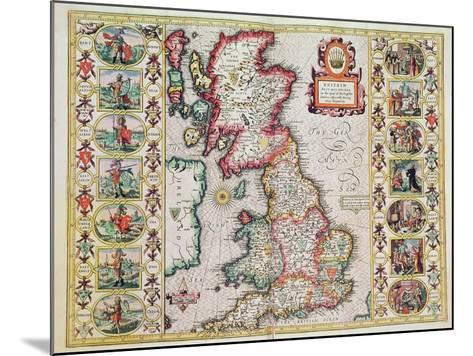 Britain As It Was Devided In The Tyme of the Englishe Saxons especially during their Heptarchy-John Speed-Mounted Giclee Print