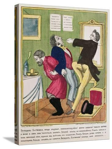 A Dentist Pulling a Tooth, 1857--Stretched Canvas Print